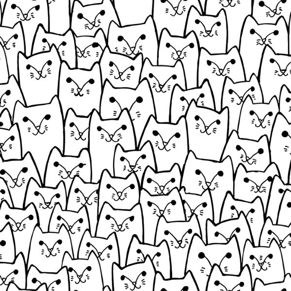 Sly cats pattern