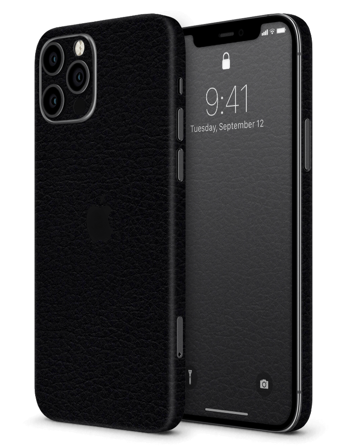 Architectonical iPhone Skin Black Leather