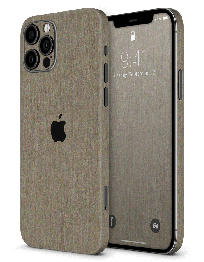 iPhone structural Skin Brushed Metal Titanium