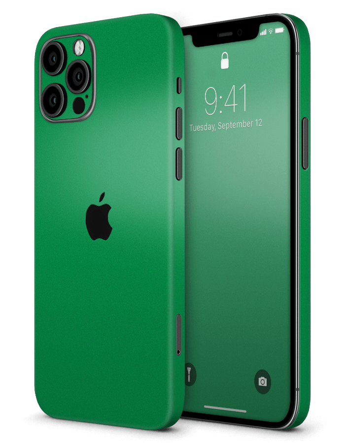 iPhone structural Skin Satin Luck Green